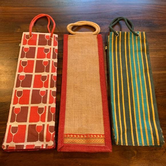 Bundle of 3 Jute Wine Bags- Luxury Wine Gifting